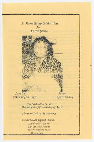 Primary view of object titled '[Funeral Program for Kattie Glenn, April 15, 2004]'.
