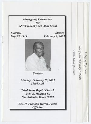 Primary view of object titled '[Funeral Program for Alvis Grant, February 10, 2003]'.