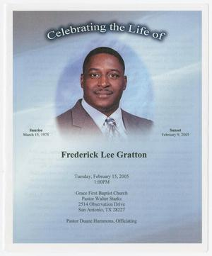 Primary view of object titled '[Funeral Program for Frederick Lee Gratton, February 15, 2005]'.