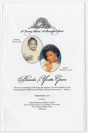 [Funeral Program for Brenda Yvette Green, December 7, 2006]