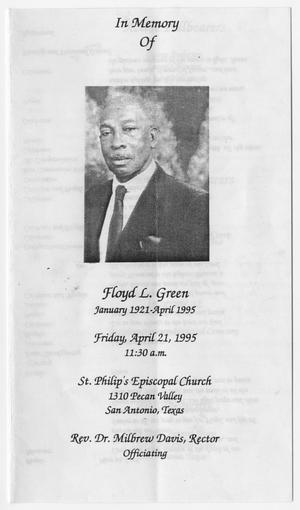 Primary view of object titled '[Funeral Program for Floyd L. Green, April 21, 1995]'.