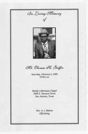 [Funeral Program for Thomas H. Griffin, February 6, 1999]