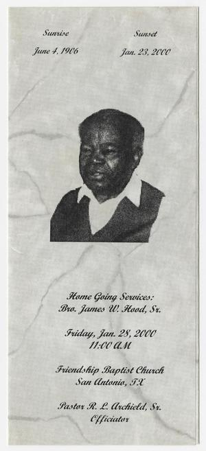 Primary view of object titled '[Funeral Program for James W. Hood, Sr., January 28, 2000]'.