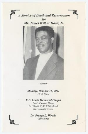 Primary view of object titled '[Funeral Program for James Wilbur Hood, Jr., October 15, 2001]'.