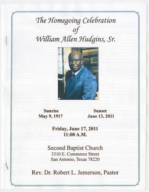[Funeral Program for William Allen Hudgins, Sr., June 17, 2011]