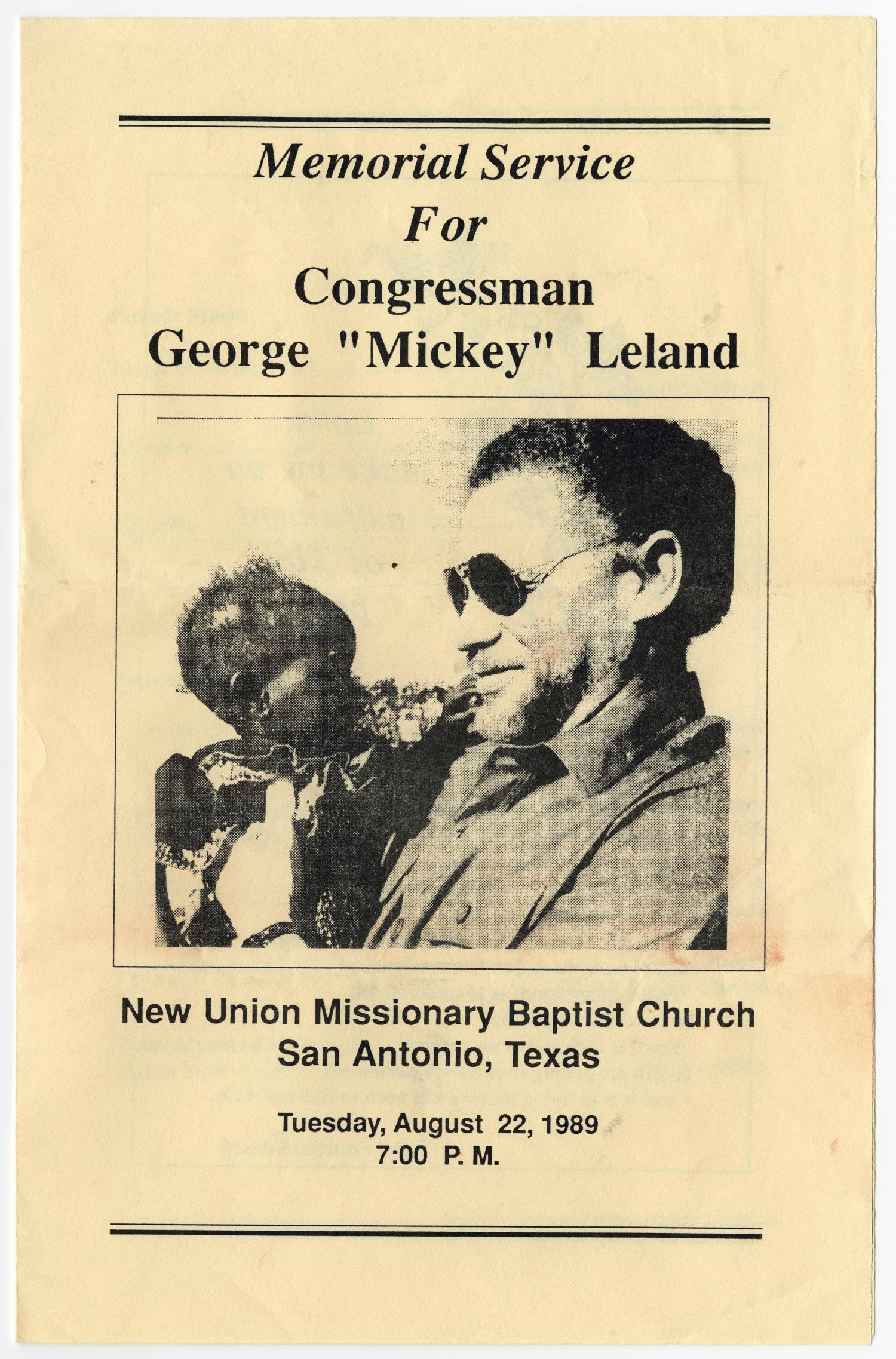 Funeral Program For George Leland August 22 1989 The