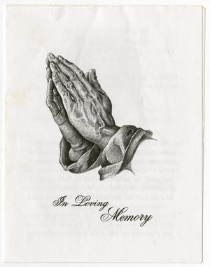 Primary view of object titled '[Funeral Program for James J. Ready, January 9, 2003]'.