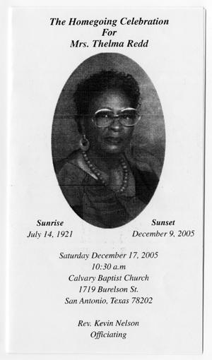Primary view of object titled '[Funeral Program for Thelma Redd, December 17, 2005]'.