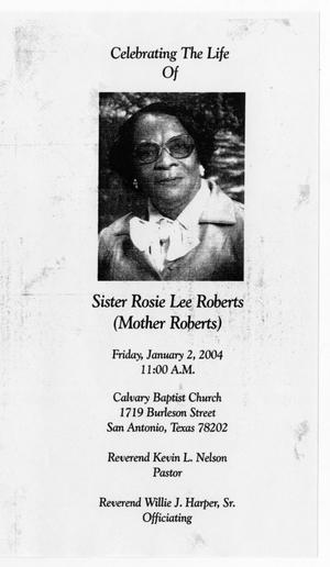 Primary view of object titled '[Funeral Program for Rosie Lee Roberts, January 2, 2004]'.