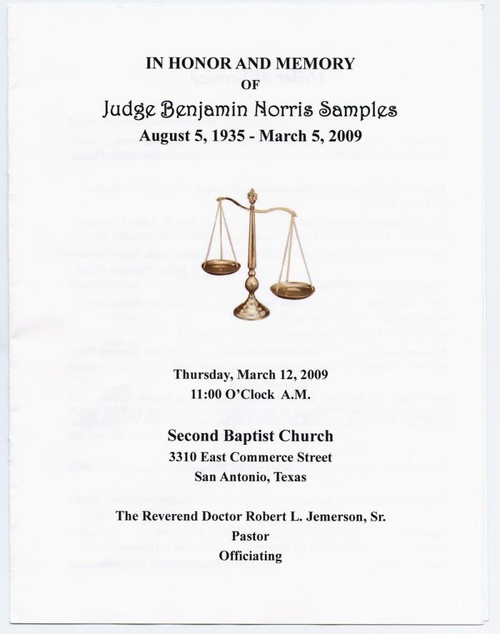 funeral program for benjamin norris samples the portal to texas