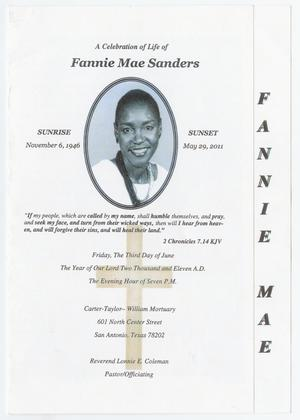 Primary view of object titled '[Funeral Program for Fannie Mae Sanders, June 3, 2011]'.