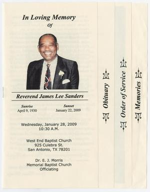 Primary view of object titled '[Funeral Program for James Lee Sanders, January 28, 2009]'.