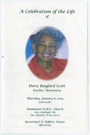Primary view of object titled '[Funeral Program for Doris Rayford Scott, January 8, 2004]'.