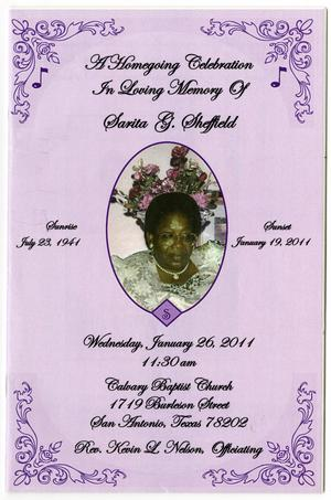 [Funeral Program for Sarita G. Sheffield, January 26, 2011]