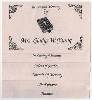 [Funeral Program for Gladys W. Young, March 3, 1997]
