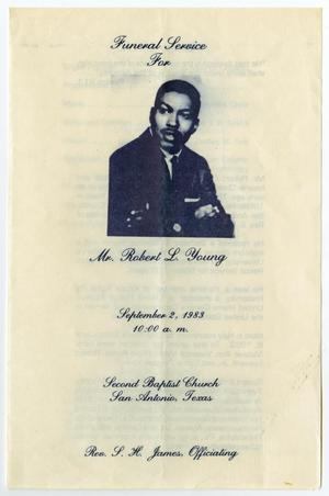 [Funeral Program for Robert L. Young, September 2, 1983]