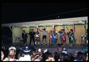 Primary view of object titled '[29 Club Members Singing and Dancing]'.