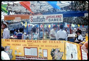 Primary view of object titled '[Scottish Society of Texas booth]'.