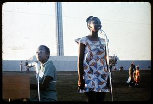 Primary view of object titled '[African-American Singer Performs with Pianist]'.