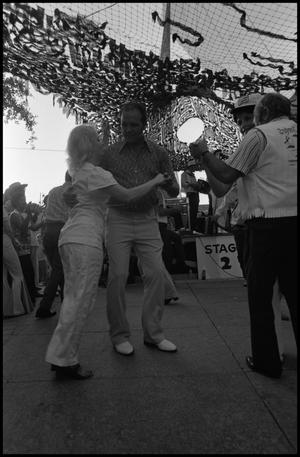 Primary view of object titled '[Dancers Performing a Cajun Dance]'.