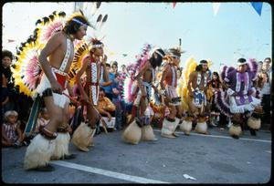 Primary view of object titled '[Alabama-Coushatta Indian Tribal Dancers]'.