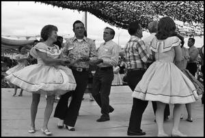 Primary view of object titled '[Alamo Area Square Dancers Performing On Stage]'.