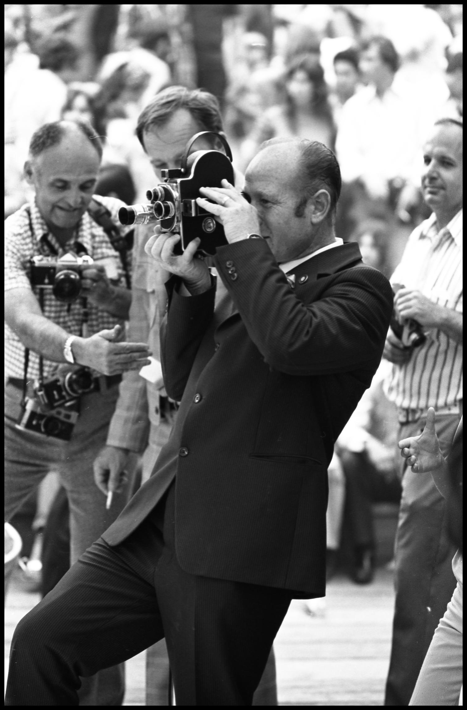 [Alexey A. Leonov Filming at the Texas Folklife Festival]                                                                                                      [Sequence #]: 1 of 1