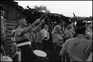 Primary view of object titled '[Scottish and Irish Bagpipers and Drummers Performing]'.
