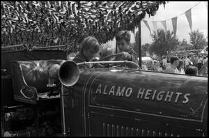 Primary view of object titled '[Alamo Heights Fire Pumper Display]'.