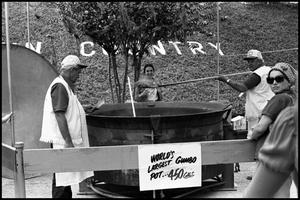 Primary view of object titled '[Cooking in the World's Largest Gumbo Pot]'.