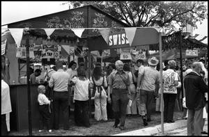 Primary view of object titled '[Swiss Food Booth]'.