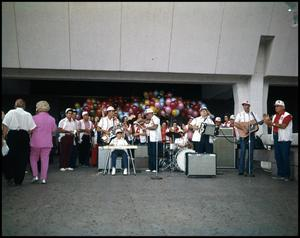 Primary view of object titled '[French Ramblers Band Performance]'.