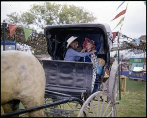 Primary view of [Children Playing in a Buggy at the Children's Toyland and Barnyard]
