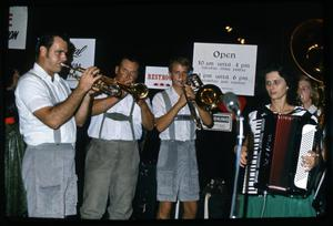 Primary view of object titled '[Wurstfest Opa Band Performance]'.