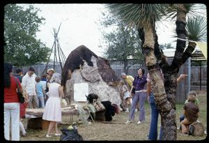 Primary view of object titled '[Indian Village at the Texas Folklife Festival]'.