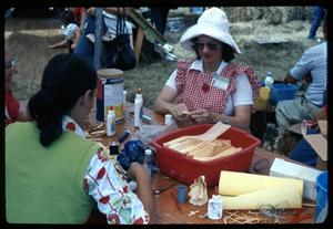 [Women Making Dolls Out of Corn Husks]