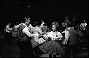 Primary view of object titled '[Alamo Square Dancers Performing at the 4th Annual Texas Folklife Festival]'.
