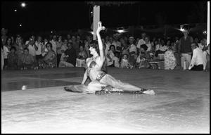Primary view of object titled '[Lebanese Folk Dancer Performing at the Texas Folklife Festival]'.
