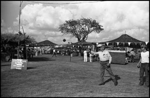 Primary view of object titled '[Bocce Ball at the Texas Folklife Festival]'.