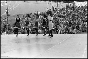 Primary view of [Greek Folk Dancers at the Texas Folklife Festival]