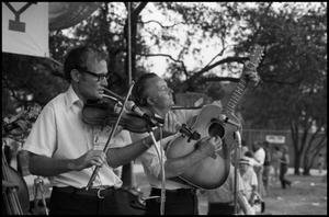 Primary view of object titled '[Bluegrass Kinfolks at the Texas Folklife Festival]'.