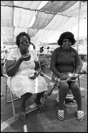 Primary view of object titled '[African-American  Food Booth at the Texas Folklife Festival]'.