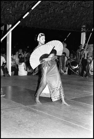 Primary view of object titled '[Laredo Bayanihan Dancer Performing at the Texas Folklife Festival]'.