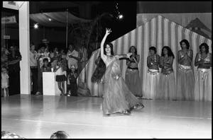 Primary view of object titled '[Lebanese Folk Dancer Tanya Zwan Performing at the Texas Folklife Festival]'.