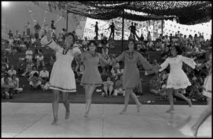 Primary view of object titled '[Jewish Folk Dancers at the Texas Folklife Festival]'.