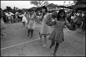 Primary view of object titled '[Jewish Folk Dancers Performing at the Texas Folklife Festival]'.
