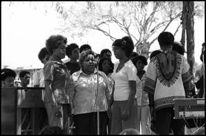 Primary view of object titled '[Walker-Ford Gospel Singers Performing at the Texas Folklife Festival]'.