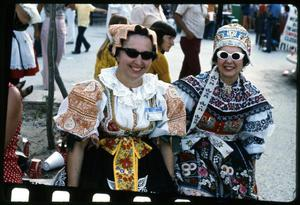 Primary view of object titled '[Austin Polish Folk Dancers at the Texas Folklife Festival]'.