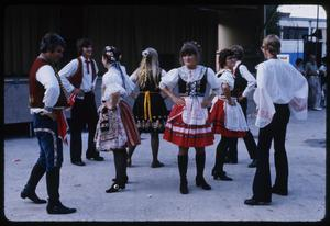 Primary view of object titled '[Czech-Moravian Beseda Dancers at the Texas Folklife Festival]'.