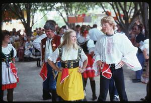 Primary view of object titled '[Czech-Moravian Beseda Dancer at the Texas Folklife Festival]'.
